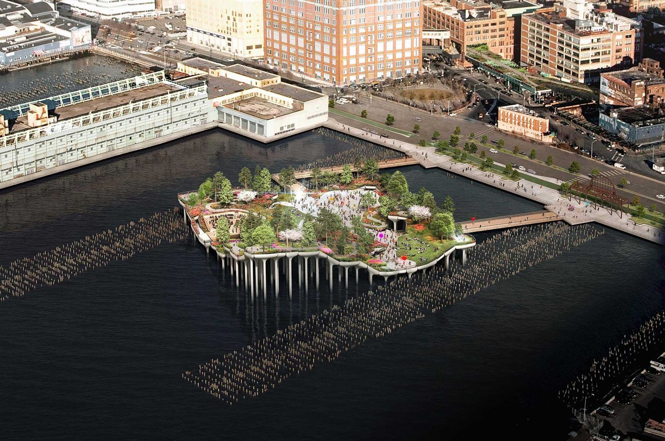 Conoce Little Island, el parque flotante sobre el río Hudson en Nueva York