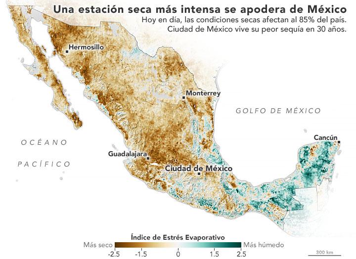 cómo entender la sequía en méxico