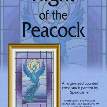 Flight of the Peacock cross stitch pattern PDF