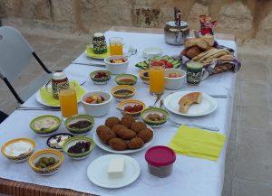 Frühstück im Dar Sitti Aziza