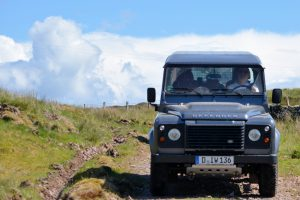 Mit dem Land Rover Defender durch Schottland