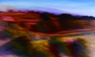 Fast Landscape from a Car Window