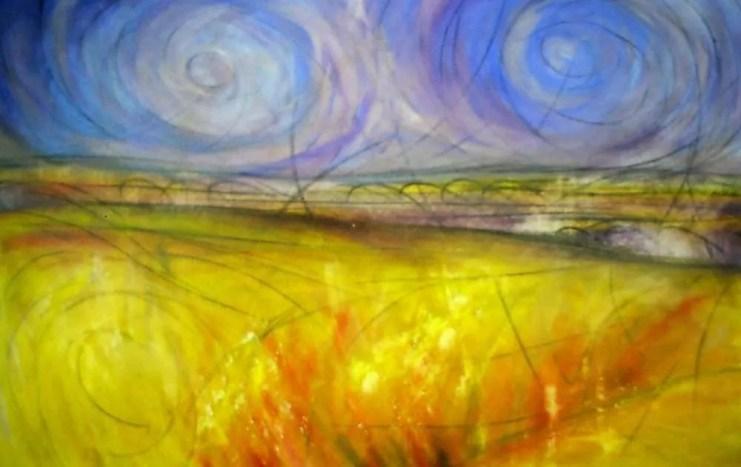 Landscape after Van Gogh