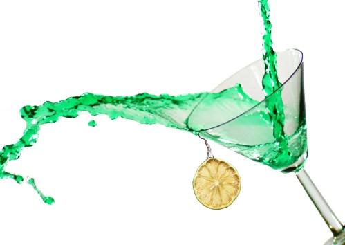 Lime Earrings Product Shot