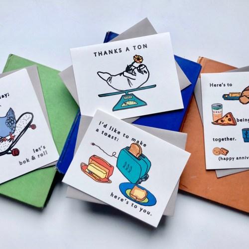 Hei Lo Cards handmade greeting card selection