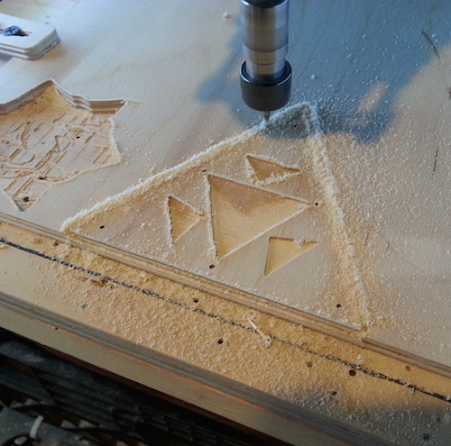Cutting plywood on my Shapeoko2 desktop CNC