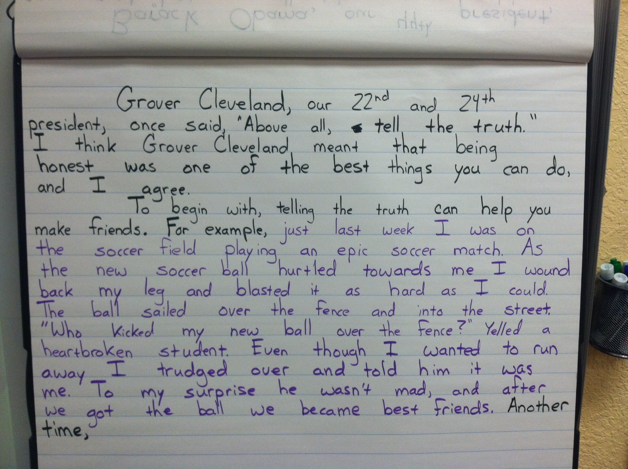 4th Grade Essay Samples A 4th Grade Expository Student