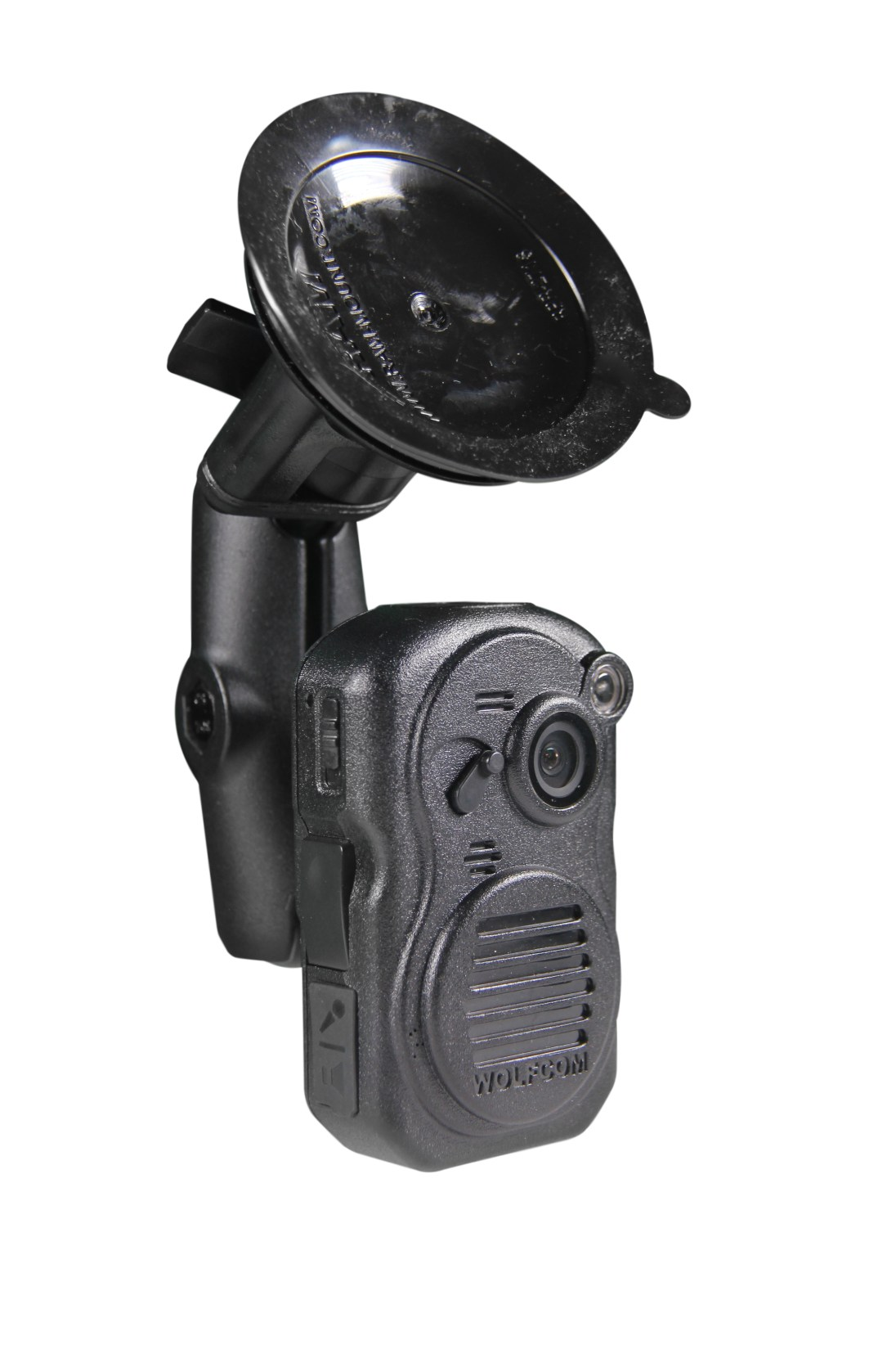 WOLFCOM 3rd eye police body camera being used as an in-car camera