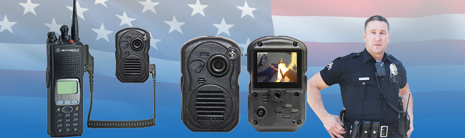 Body camera with police officer
