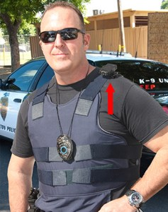 body camera can be worn on the shoulder