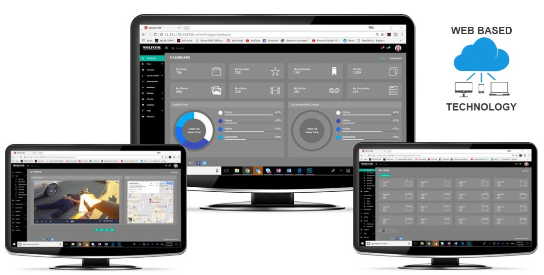 wolfcom evidence management software is also up in the cloud