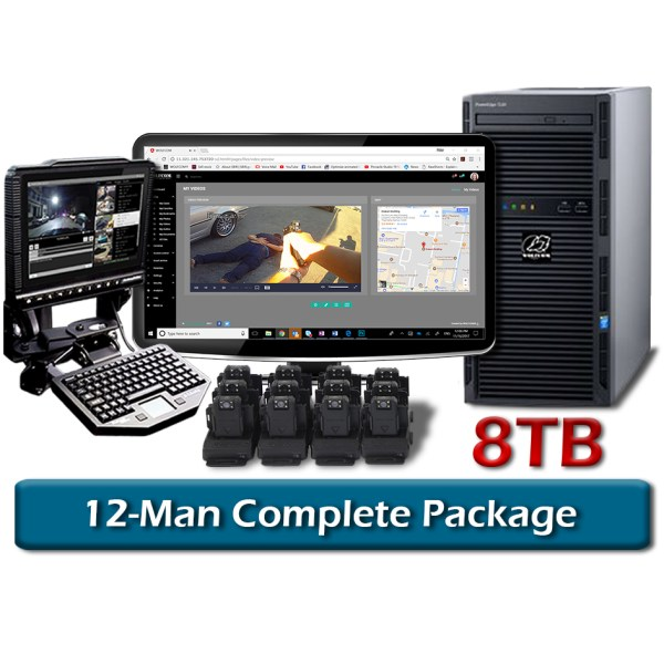 complete 12-man vision body camera package