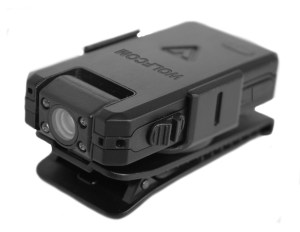 wolfcom vision body camera on rotatable clip