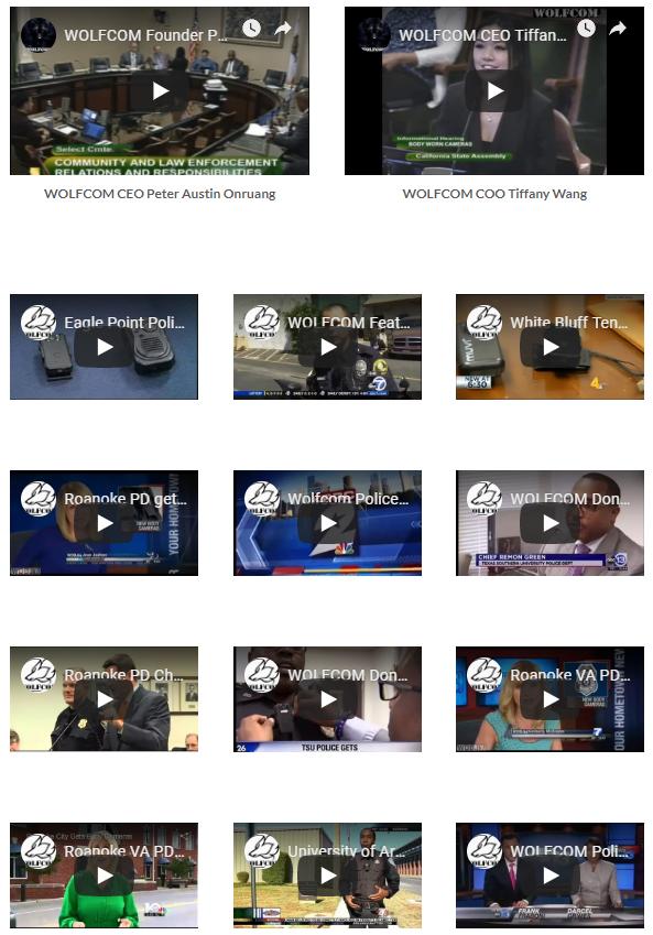Link to body camera news videos