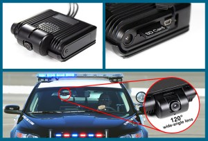wolfcom mini mdvr in-car camera system mounted on windshield