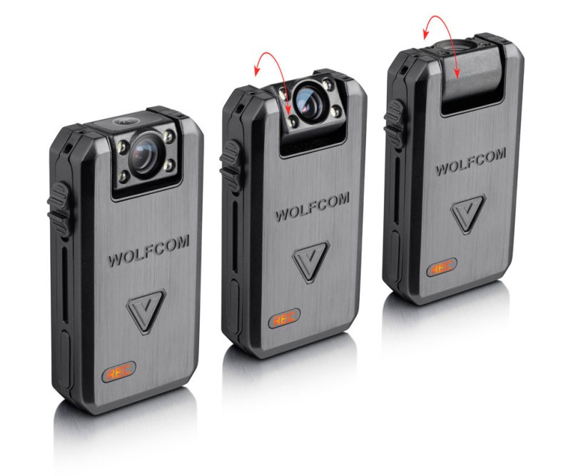 the wolfcom vision has a rotatable camera head that allows officers of all statures to wear it comfortably