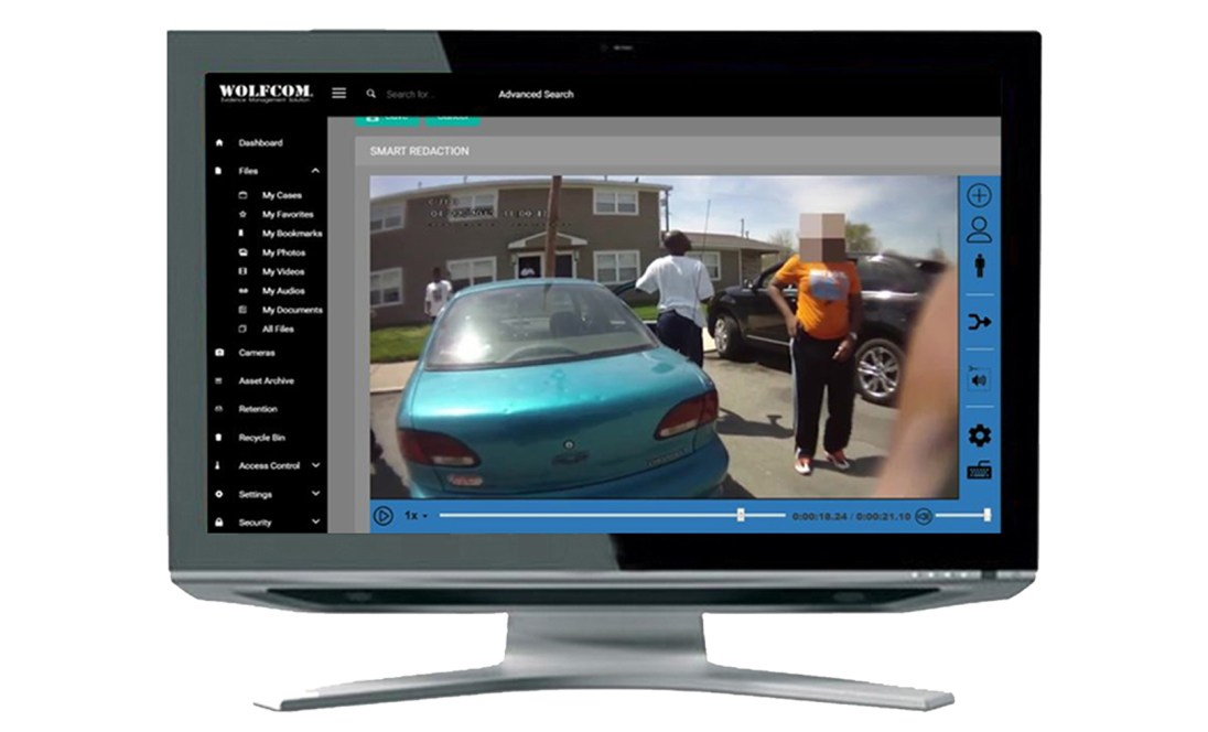 wolfcom offers video redaction software that's able to automatically identify and redact faces