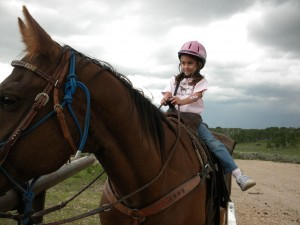 Small Girl On Horse