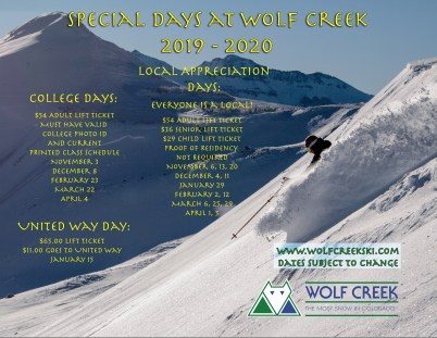 Deep snow at Wolf Creek