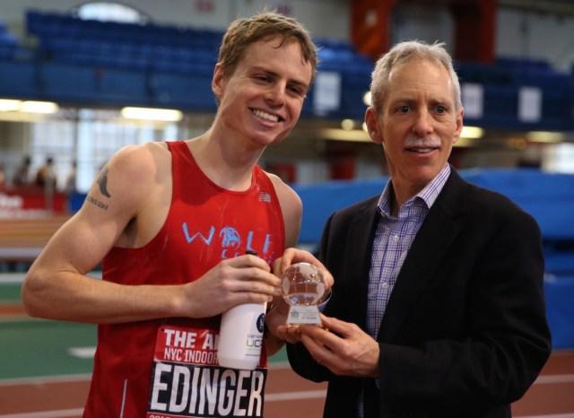 Edinger 2nd at Armory Indoor Marathon