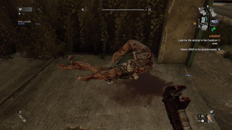 Contortionist zombie