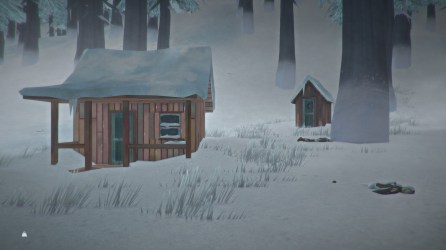 Cabin with outhouse