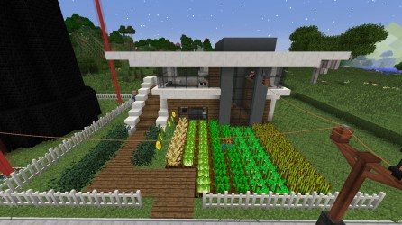 PO2 Village Modern house with farm