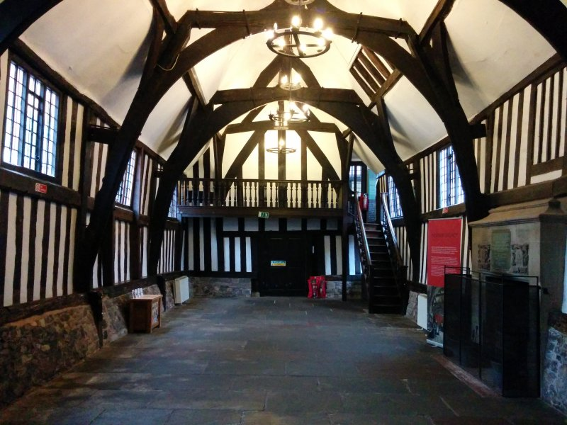 Inside the Guildhall in Leicester