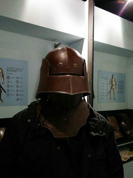 Lord Crumb in a helmet