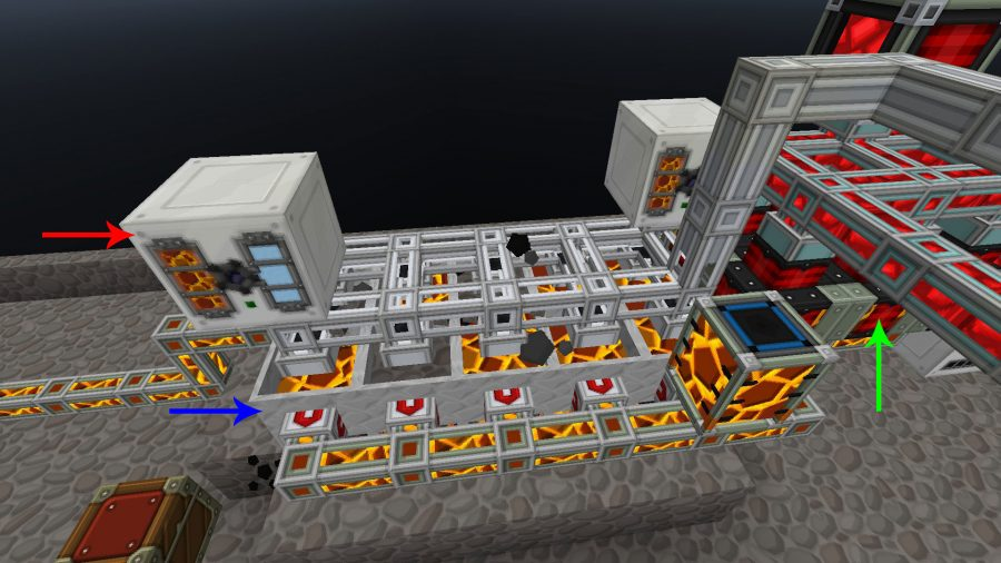 Generating cobblestone, lava, and energy