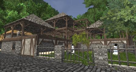 WIP: Courtyard side