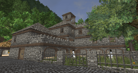 Finished: Courtyard side