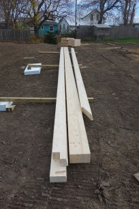 Beams laid out