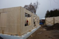 With four walls in place, we have more stabilty