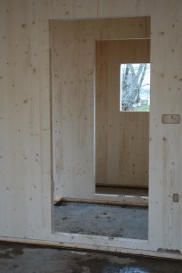 Looking through the entrance way to the downstairs WC