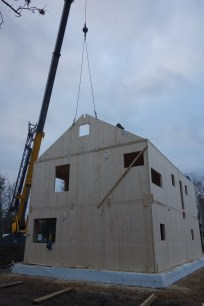 We had hoped to have enough time to get the gable ends up, and we did