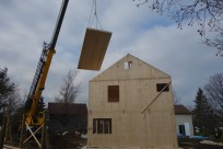 Flying the roof panels in