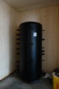 The water tank in situ