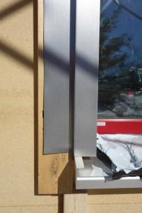 Detail of the aluminium trim