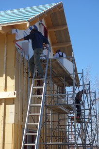 East side insulation going up