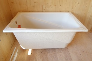 Kohler 'Greek' tub awaiting installation