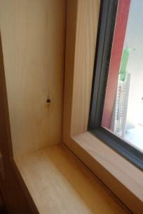 Interior window sills etc. test installed