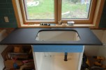 The finished sink cut-out