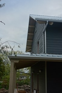 The south side porch roof and eavestroughs are all done