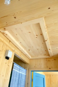 The finished attic hatchway