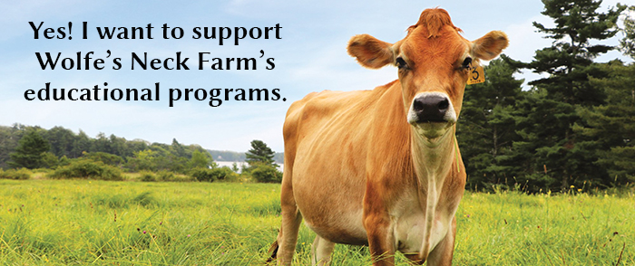 Yes! I want to support Wolfe's Neck Farm's educational programs.