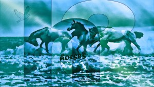 Three Painted Horses Poem Image