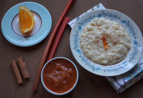 Rhubarb and Rice Pudding2