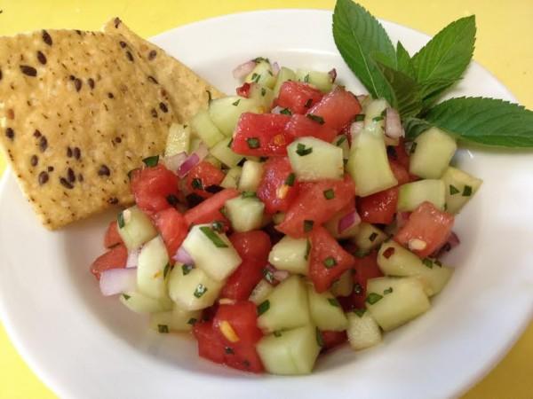 Cucumber Watermelon Salsa