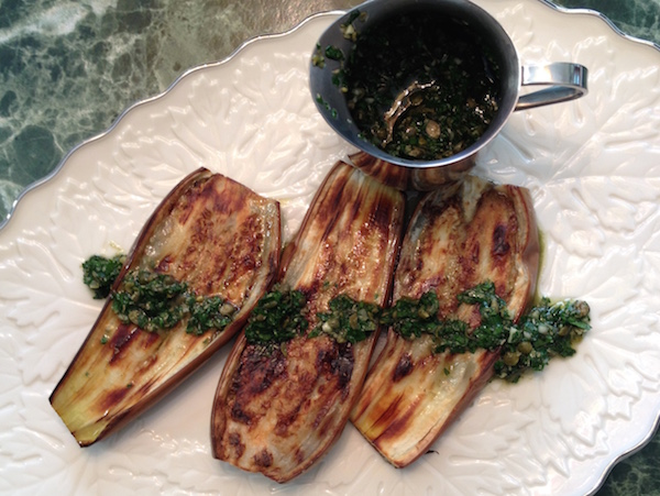 Eggplant with Capers and Parsley